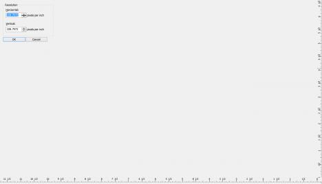 CorelDRAWやPHOTO-PAINTの解像度指定画面