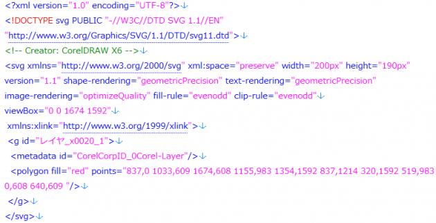SVGソースコード画像