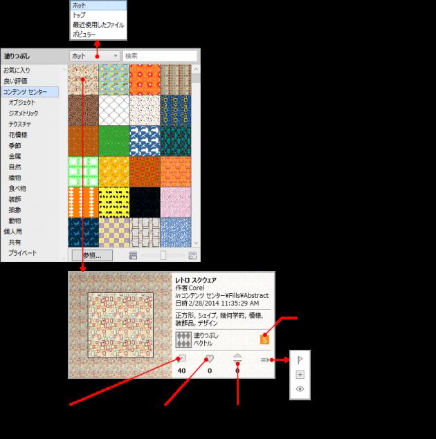 X7でのパターン選択の詳細