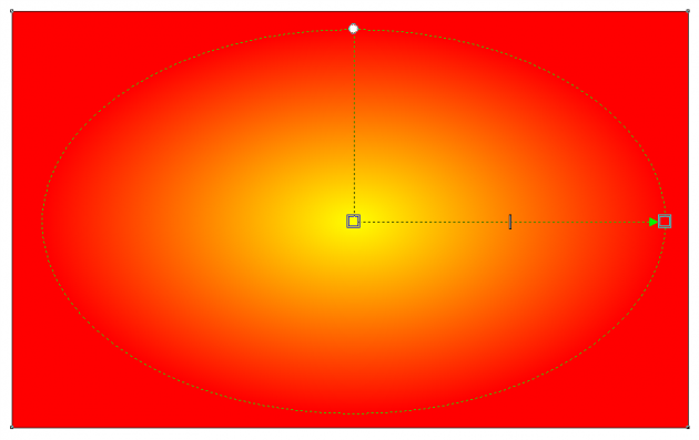 X7の楕円形グラデーション