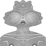 遮光器土偶のワイヤーフレーム画像