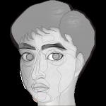 顔 イラスト ワイヤーフレーム画像