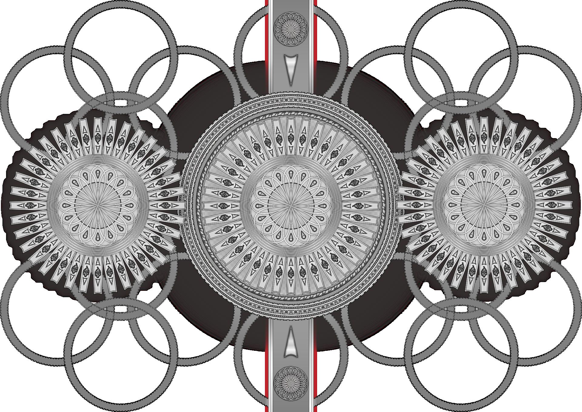 歯車 イラスト ワイヤーフレーム画像