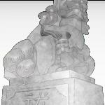狛犬 イラスト ワイヤーフレーム画像