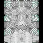翡翠の仮面 イラスト ワイヤーフレーム画像