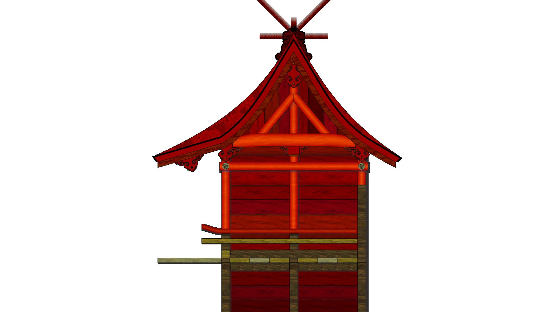 氷川女体神社 本殿 イラスト画像