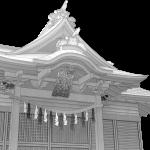 氷川女体神社 イラスト ワイヤーフレーム画像