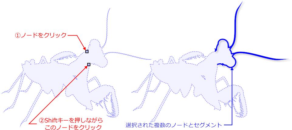 ノード選択拡張機能の概念図