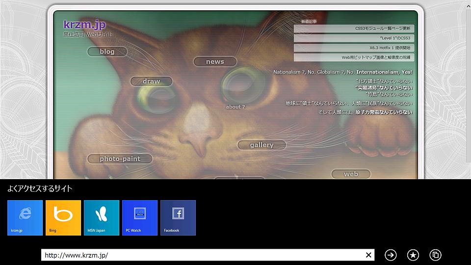 Windows 8.1プレビュー版のIE11